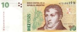 ARGENTINA 10 PESOS ND (2013) P-354a UNC SERIES N, SIGN: PONT & FELLNER [ AR354a5 ] - Argentina