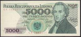 Poland 5000 Zlotych 1982 P150a UNC - Polonia