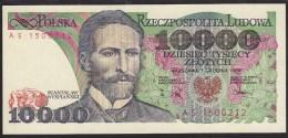 Poland 10000 Zlotych 1988 P151b UNC - Polonia