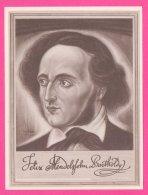 PIC00044 Immortal Men Of Music Miniature Of Composer Felix Mendelssohn - Old Paper