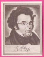 PIC00045 Immortal Men Of Music Miniature Of Composer Franz Schubert - Old Paper
