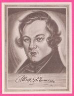 PIC00046 Immortal Men Of Music Miniature Of Composer Robert Schumann - Old Paper