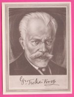 PIC00047 Immortal Men Of Music Miniature Of Composer Pyotr Ilyich Tchaikovsky - Old Paper