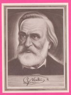 PIC00048 Immortal Men Of Music Miniature Of Composer Giuseppe Verdi - Old Paper