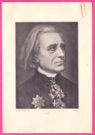PIC00053 Perry Picture Of Composer Franz Liszt - Old Paper