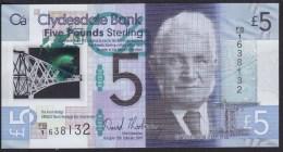 Scotland 5 Pound 2015 Pnew UNC - 5 Pounds
