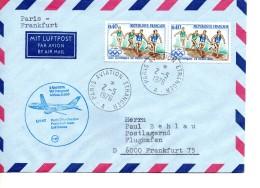 FRANCE  Lettre Poste Aerienne  1976  Avions  JO 1968 Course Relai - Vliegtuigen