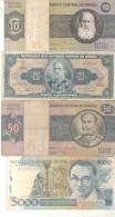 BRASIL BRAZIL BRESIL 10 BILHETES BILLETES BANK NOTES DIFFERENT DIFERENTES DIFFERENTES - Brazil