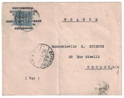 1924 - GRAND LIBAN LETTRE De BEYROUTH Pour La FRANCE Affranchie Avec Semeuse SURCHARGEE 2,50 PIASTRES - Grand Liban (1924-1945)