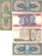 BRASIL BRAZIL BRESIL 5 BILHETES BILLETES BANK NOTES DIFFERENT DIFERENTES DIFFERENTES - Brazil