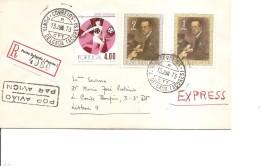 Portugal ( Lettre Recommandée De 1973 De PontaDelgada  Aux Açores  Vers Le Portugal à Voir) - 1910-... Republik