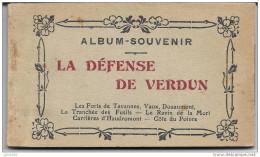 VERDUN ..-- MILITARIA .  Carnet Complet De 20 Cartes . LA DEFENSE DE VERDUN . - Guerre 1914-18