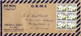 G 285 - Enveloppe Envoyée De Raratonga / Cook Islands En Allemagne 1967 - Cookeilanden