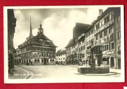 HBP-26  Stein Am Rhein. Rathausplatz. Gelaufen In 1925. Photoglob Y 2586 - SH Schaffhouse