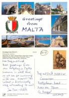 Multiview, Malta Postcard Posted 2009 Stamp - Malte