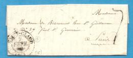 CHarente - St Claud Pour Mme De BIZEMONT à Paris. CàD Type 13 + Taxe Tampon 7. 1832 - 1801-1848: Précurseurs XIX