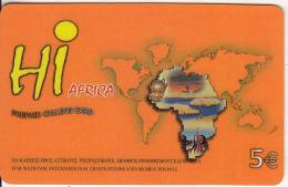 GREECE - Hi Africa Prepaid Card 5 Euro, Used - Greece
