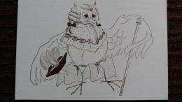 CPM SALON CP DE GRIGNAN DESSIN HIBOU CHOUETTE 1994 - Oiseaux