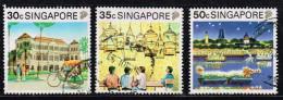Singapur 1990, Michel# 602, 603 + 605 O - Singapore (1959-...)