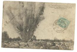 CPA Dérivation Des Eaux Du Loing,rochers De La Reine Sautant à La Dynamite, Circulée En 1905 - Autres Communes