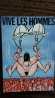 CPSM FEMME NUE ATTERISSANT PARACHUTE SOUTIEN GORGE SUR DES SEXES D HOMMES DESSIN SCHWIETZER - Humor
