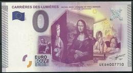 Billet  0 Euro  2015 Carrières Des Lumières Michel Ange,Raphaél, Léonard De Vinci EPUISE - EURO