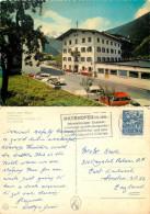 Geisler's Hotel Strass Cars, Mayrhofen, Tirol, Austria Postcard Posted 1970 Stamp - Österreich