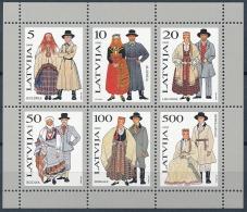 Mi Block 3 Folk Costumes Trachten Costume Traditionnel - Latvia Lettland Lettonie Latvija