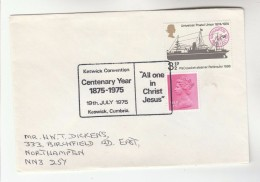 1975 GB Stamps COVER EVENT Pmk KESWICK CONVENTION CENTENARY, ALL ONE IN JESUS Religion Christianity - Christianity