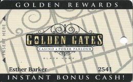 Golden Gates Casino Black Hawk, CO - Slot Card - Full Width Reverse Text - Cartes De Casino