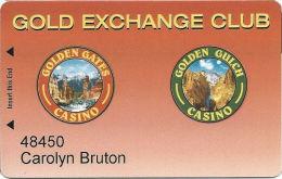 Golden Gates & Golden Gulch Casinos - Black Hawk, CO - Slot Card Used At Both Locations - Casino Cards