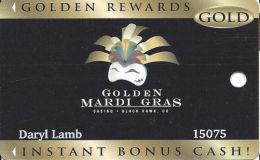 Golden Mardi Gras Casino - Black Hawk, CO - Slot Card - Last Line Text Starts 'non-transferable...' - Casino Cards