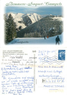 Bonascre Ski Lift, Ax-les-Thermes, Ariège, France Postcard Posted 2013 Stamp - Ax Les Thermes