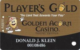 Golden Acorn Casino Campo, CA - Slot Card - Reverse Logo Centered - Casino Cards