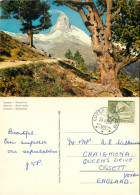 Matterhorn, Zermatt, VS Valais, Switzerland Postcard Posted 1959 Stamp - VS Valais