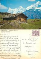 Eiger Monch Jungfrau, BE Bern, Switzerland Postcard Posted 1973 Stamp - BE Berne