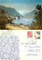 Chateau De Chillon, Montreux, VD Vaud, Switzerland Postcard Posted 1978 Stamp - VD Vaud