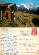 Alpenhorn, Wengen, BE Bern, Switzerland Postcard Posted 1966 Stamp - BE Berne