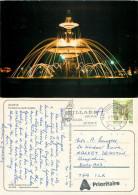 Fountain, Geneve, GE Geneve, Switzerland Postcard Posted 1991 Stamp - GE Geneva