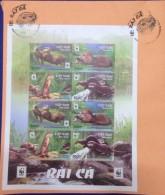 FDC WWF W.W.F. Vietnam Viet Nam With Perf Sheetlet & Cancellation Of Hanoi : Otter - W.W.F.