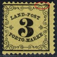3 Kreuzer Gelb - Baden Landpost Nr.P  2 A Mit PF VIII - Bade