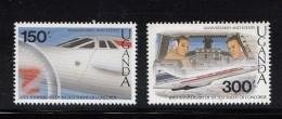 1989 Uganda Concorde Anniversary Set Of 2 (from Anniversaries Set Of 8) MNH