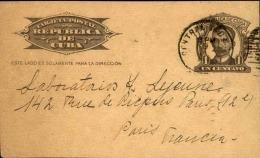 CUBA - Entier Postal Pour Paris En 1934 - A Voir - L  3704 - Cuba