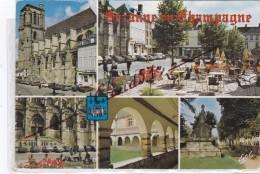 SEZANNE (51)L´Eglise St. Denis Et La Place De La République - Le Cloïtre De L´Hôpital Ancien Couvent Des  Récolets - Sezanne