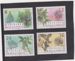MACEDONIA   2001  -Trees-Fruits  Set 4 Val  MNH** - Trees
