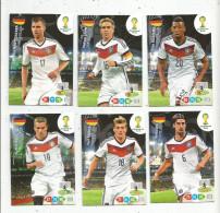 G-I-E , Trading Cards , Carte PANINI , Football , FIFA WORLD CUP , BRASIL , Brésil 2014 , DEUTSCHLAND , LOT DE 6  CARTES - Trading Cards