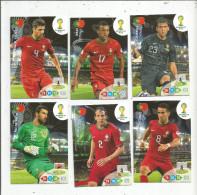 G-I-E , Trading Cards , Carte PANINI , Football , FIFA WORLD CUP , BRASIL , Brésil 2014 , PORTUGAL , LOT DE 6 CARTES - Trading Cards