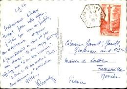 ANDORRE - Oblitération De Ordino Sur Carte Postale Pour La France 1957 - A Voir - L  3719 - Lettres & Documents