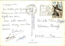 ANDORRE - Oblitération De Andorra Sur Carte Postale Pour La France 1979 - A Voir - L  3721 - Cartas