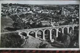 87 - BELLAC - GRANDE PHOTO ORIGINALE LAPIE - LA VALLEE ELARGIE DU VINCOU - VUE SUR L' EGLISE VIADUC-1956 - Photographs